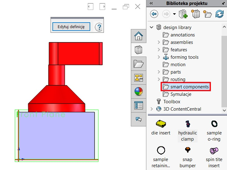 Library project not only for operations in parts - SOLIDWORKS
